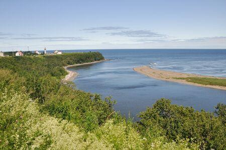 madeleine: Madeleine cape at low tide, Quebec (Canada)