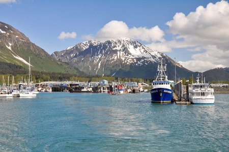 Seward Bay Harbor in Alaska