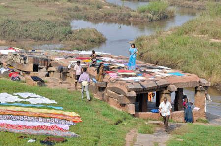 Drying clothes, Hampi  (India) Stock Photo - 12193939