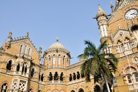 terminus:  Victoria Terminus Train Station in Mumbai (India)