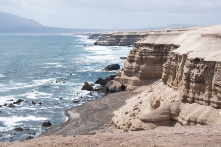 portada: Cliffs near La Portada Natural Monument at Antofagasta, Chile
