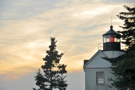 Sunset at Bass Harbor Lighthouse, Acadia National Park (Maine) photo