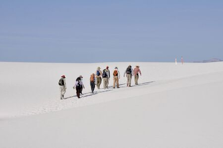 Trekking in White Sands National Monument, New Mexico (USA) Stock Photo - 11931722