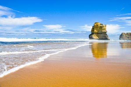 australian landscape: Gibson Steps and the Twelve Apostles, Victoria (Australia) Stock Photo