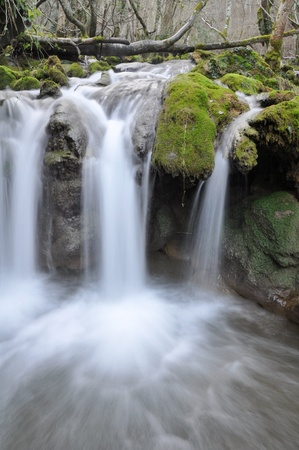 basque country: Toberia waterfall, Basque Country Stock Photo