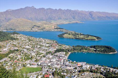 Queenstone and Wakatipu lake, New Zealand photo