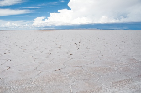 Salt flat of Uyuni, Bolivia photo