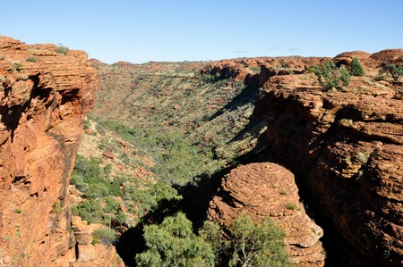 hill of the king: Kings canyon in Australia Stock Photo