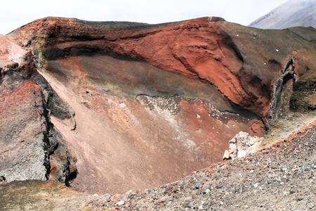 tongariro: Red crater, Tongariro national park, New Zealand