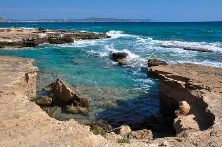 Mediterranean coast, Ibiza, Spain photo