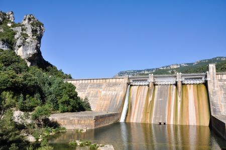 basque country: Dam over Ebro river, Basque country  Spain   Stock Photo