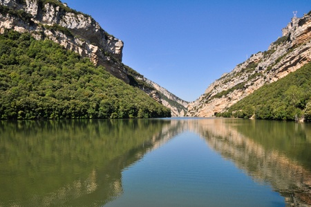 alava: Sobron reservoir  Basque Country, Spain Stock Photo
