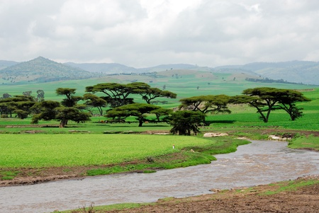 Ethiopia highlands Stock Photo