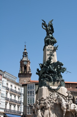 vitoria: Virgen Blanca square, Vitoria-Gasteiz  Spain