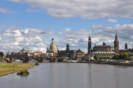 dresden: Panoramic of Dresden  Germany