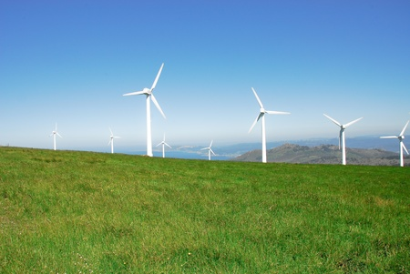 energy field: Eolian generators Stock Photo