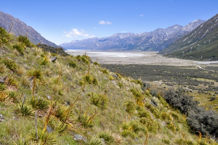 hooker: Hooker valley, New Zealand Stock Photo