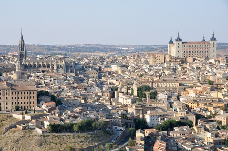 Panoramic view of Toledo, Spain  Stock Photo - 13139490