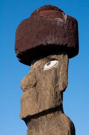 Moai in Tahai , Easter island  Chile   Stock Photo - 13157097
