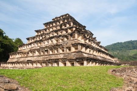 mesoamerica: Pyramid of the Niches, El Tajin  Mexico