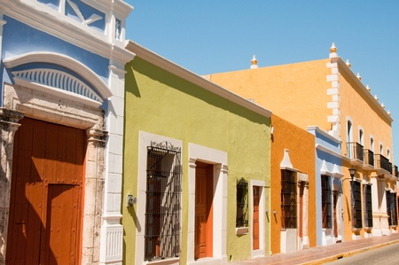 Colonial architecture in Campeche  Mexico