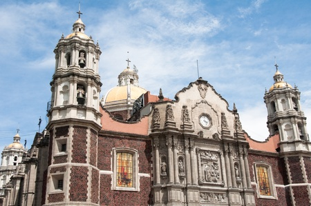 of our lady: Our Lady of Guadalupe sanctuary in Mexico city  Stock Photo