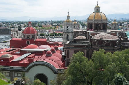 Our Lady of Guadalupe sanctuary in Mexico city  Stock Photo