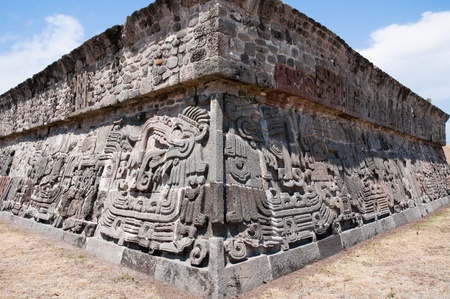 Temple of the Feathered Serpent in Xochicalco  Mexico