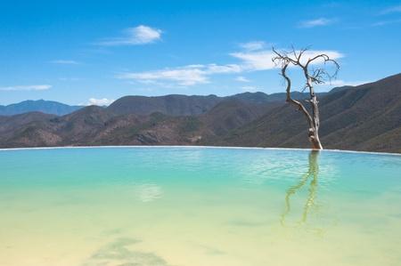 el: Hierve el Agua, thermal spring in Oaxaca  Mexico