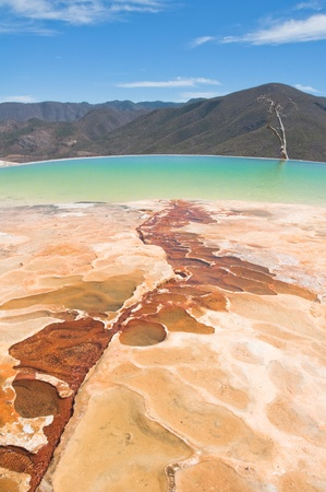 Hierve el Agua, thermal spring in Oaxaca  Mexico  Stock Photo - 13195461