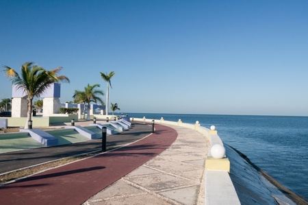 Sea front of Campeche, Mexico Stock Photo