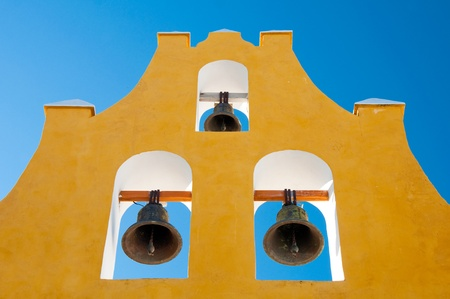 colonial: Typical belfry in Campeche  Mexico