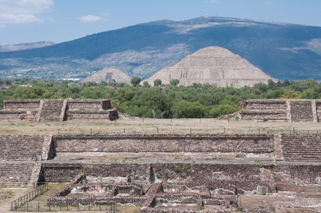 Teotihuacan from the temple of Quetzalcoatl,  Mexico  photo