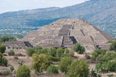 Pyramid of the Moon, Teotihuacan  Mexico  photo