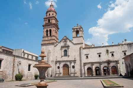augustine: Church of St  Augustine, Morelia  Mexico  Stock Photo