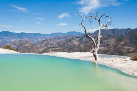 Hierve el Agua, thermal spring in Oaxaca  Mexico  photo