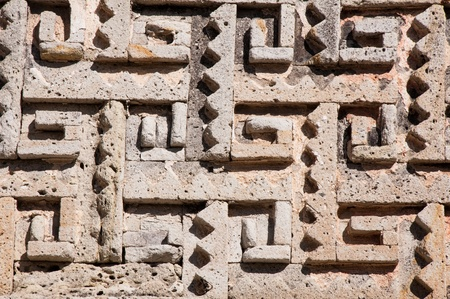 archaeological: Glyph in archaeological site of Mitla, Oaxaca  Mexico