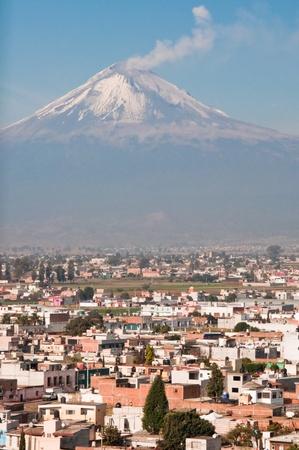 seen: Popocatepetl volcano seen from Cholula  Mexico