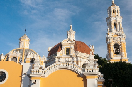 of our lady: Our Lady of Guadalupe church, Puebla  Mexico  Stock Photo