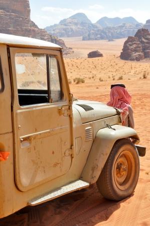 fourwheeldrive: Desert Safari at Wadi Rum  Jordan  Stock Photo