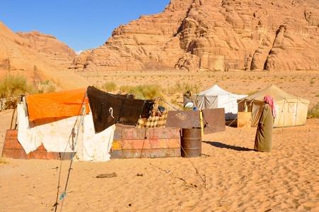 Berber tent in theWadi Rum desert  Jordan  photo