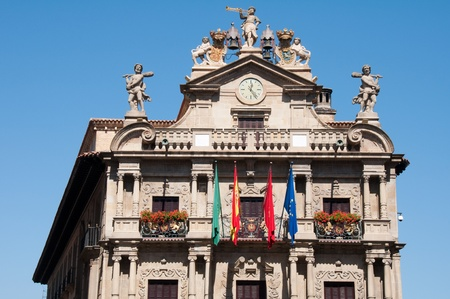 navarra: City Hall of Pamplona, Navarre, Spain