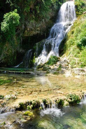 cascade range: Orbaneja del Castillo waterfall, Burgos, Spain
