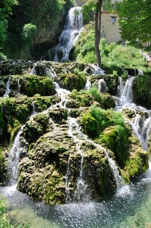 castile leon: Orbaneja del Castillo waterfall, Burgos, Spain