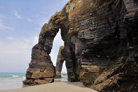 The Beach of the Cathedrals, Galicia  Spain  Stock Photo