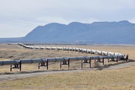 Trans-Alaska Oil Pipeline Stock Photo