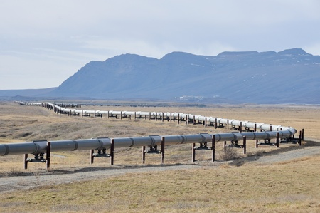 Trans-Alaska Oil Pipeline Stock Photo