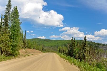 Dalton Highway, polar region in Alaska photo