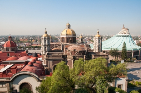 mexico city: Our Lady of Guadalupe in Mexico city Stock Photo
