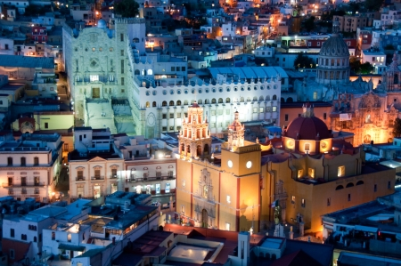 Guanajuato at night, Mexico Editorial